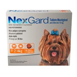 ANTIPULGAS NEXGARD CX 1COMPRIMIDO 02 A 04KG 11,3MG