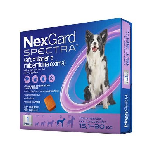 ANTIPULGAS NEXGARD SPECTRA 15,1 A 30KG 1 TABLETE